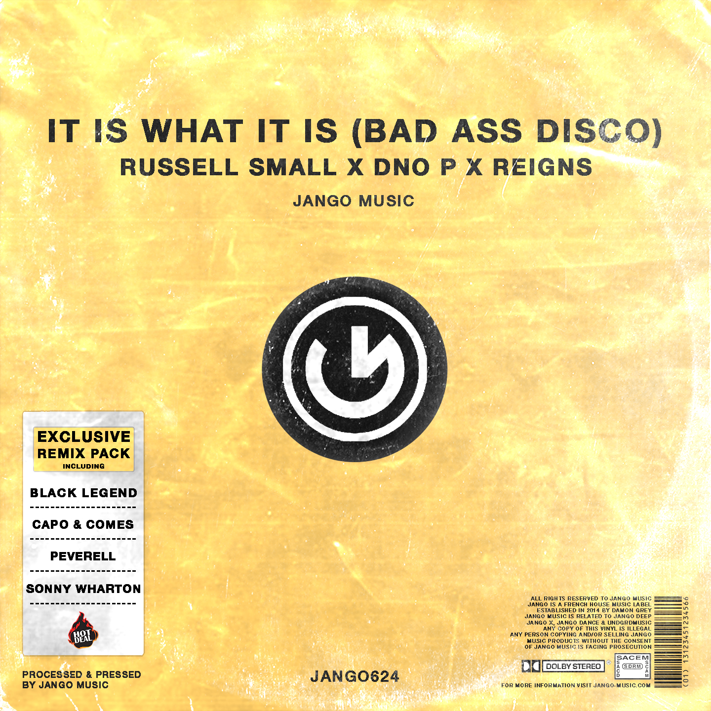 It Is What It Is (Bad Ass Disco) (Remix Pack) - Inc. Carl Cox Remix