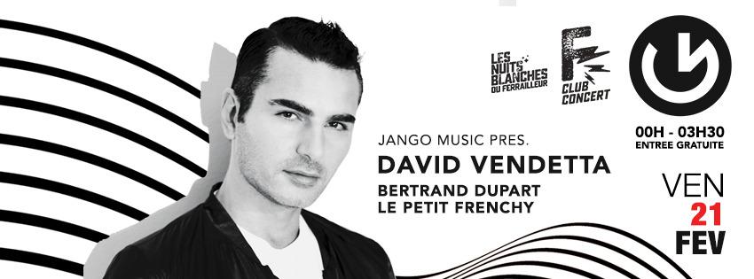 Jango Music pres. David Vendetta, Bertrand Dupart et Le Petit Frenchy